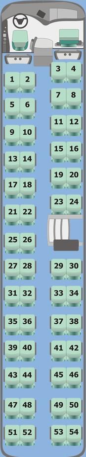 54 Kişilik Araç Oturma Planı